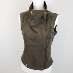 Forever 21 Faux Suede Zip Up Vest